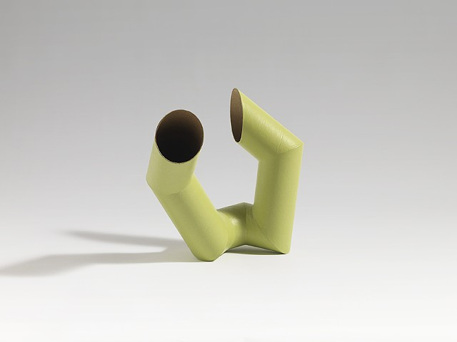 abstract, organic forms from cardboard tubes by Laura Evans