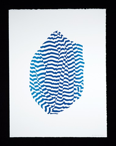 Janet Marcavage screen print from shift series