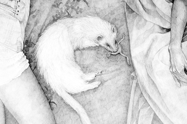 Desdemona Sleeping Beside Death, detail
