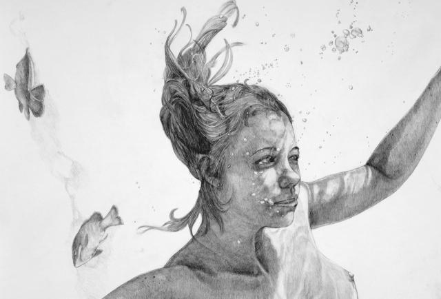 Ophelia at fourteen, detail