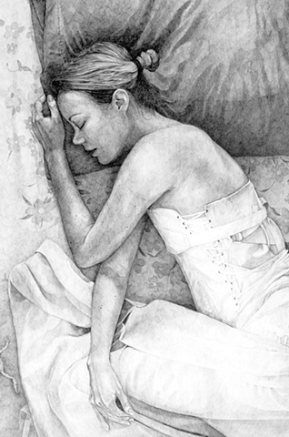 Desdemona Sleeping Beside Death, detail