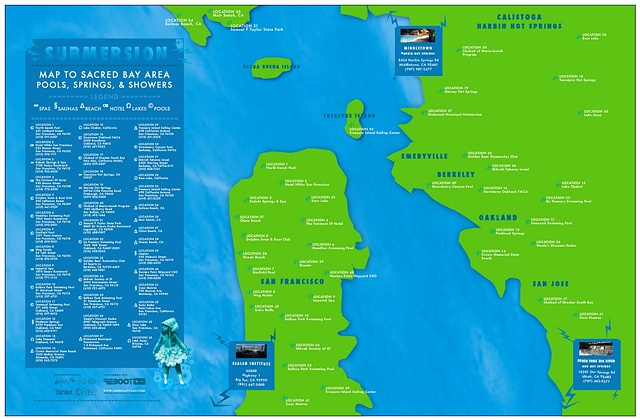 Submersion Map to Sacred Bay Area Pools, Springs & Shores