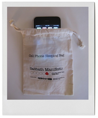 Cell Phone Sleeping Bag Jessica Tully for REBOOT
