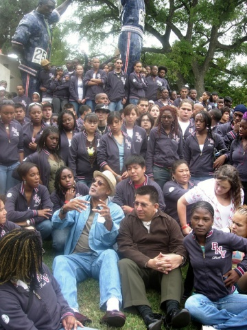 John Carlos with Youth Speaks