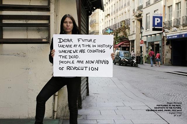 POSTCARDS TO THE PAST, SIGNPOSTS TO THE FUTURE, Veronique Godé, Paris, July, 2011, (image 1 of 16)