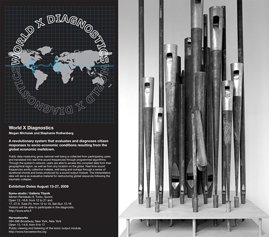 """""""WORLD X DIAGNOSTICS,"""" created in collaboration with Stephanie Rothenberg"""