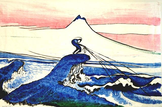 Hokusai Fishing 2009