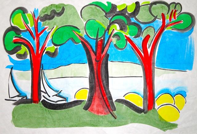 Hudson's Dancing Trees 2011