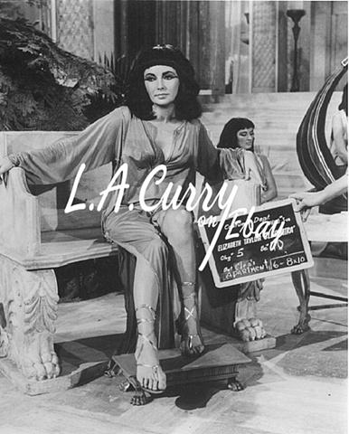 ELIZABETH TAYLOR CLEOPATRA COSTUME TEST PHOTOGRAPH 1962