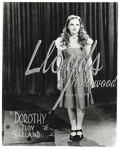 JUDY GARLAND WIZARD OF OZ RARE COSTUME TEST 1939