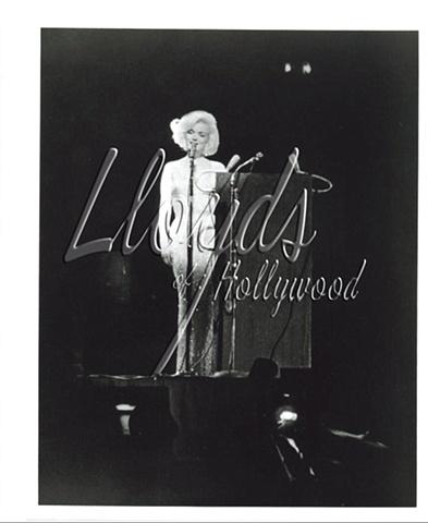 MARILYN MONROE NUDE DRESS ON STAGE JFK BIRTHDAY 1962
