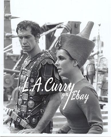 Elizabeth Taylor Martin Landau Cleopatra on war ship 1962