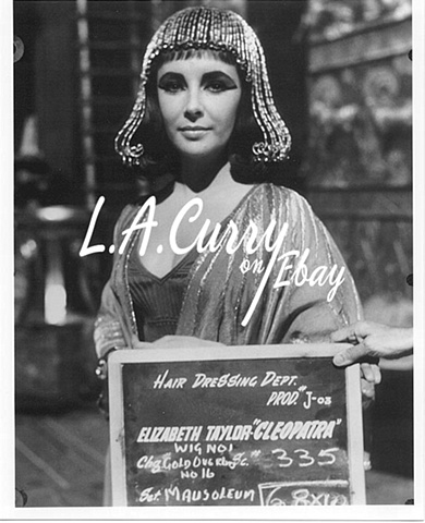 ELIZABETH TAYLOR CLEOPATRA LOST COSTUME  TEST  ROME 1962