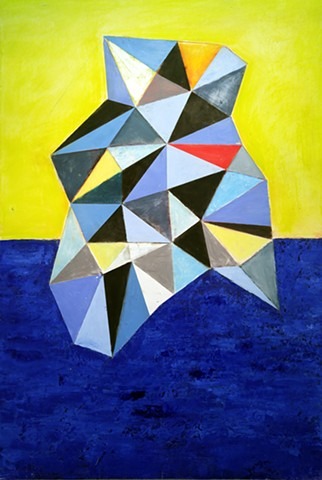 geometric abstraction on panel