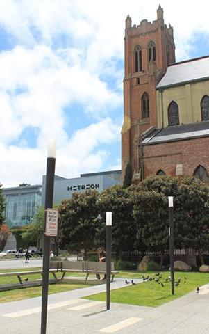 Jewish Contemporary Plaza, adjacent to St. Patricks Church