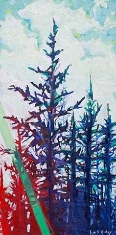 landscape acrylic painting artwork oil painting abstract Canadian artist group of seven