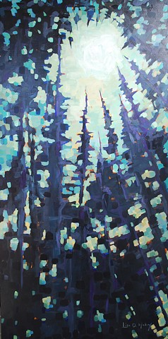 Landscape, abstract, painting, art, Canadian, painter
