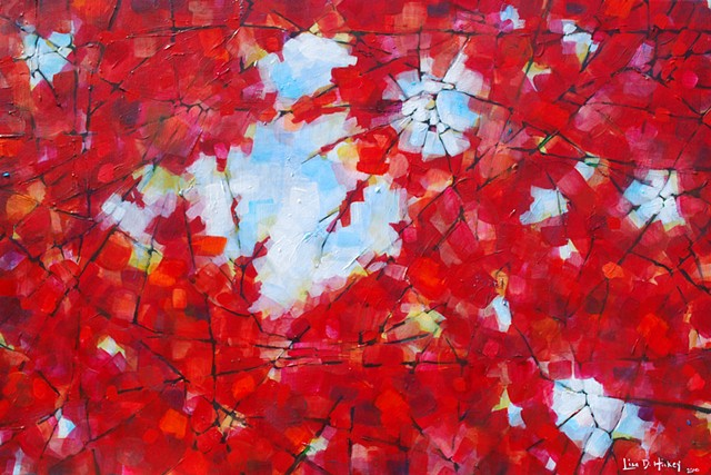 Light Through Maple Leaves - SOLD