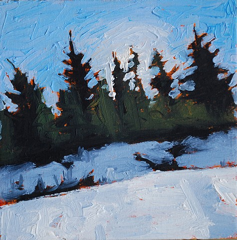 SOLD - Moore Ravine Light Study