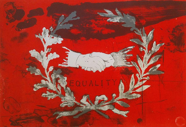 Jeremy Lundquist Printmaking Lithography Artist Haymarket Equality