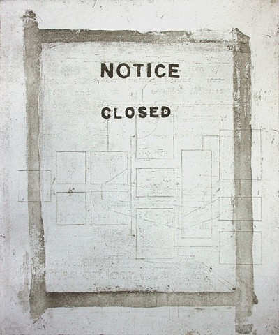 Jeremy Lundquist Printmaking Etching Artist Notice Closed