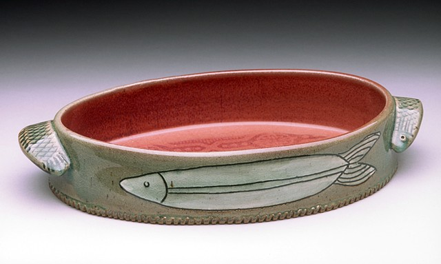 Cone 10 Fired Oval Serving Dish