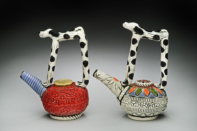 "Two Small ""Spot of Tea"" Teapots"