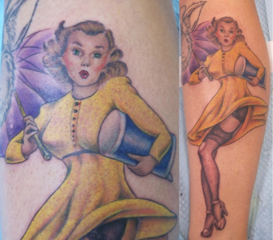 Ron Meyers - Morton salt girl on Tattoo Artist Jamie Morton