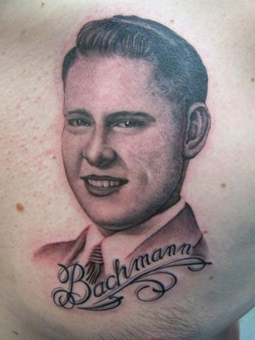 Ron Meyers - Tattoo on Big John Williams of his pap