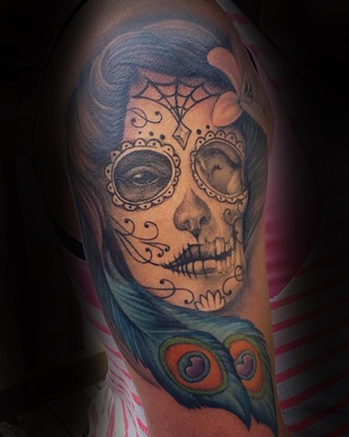 Ron Meyers - Day of the Dead Girl Tattoo
