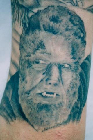 Ron Meyers - Werewolf on Tattoo Artist Corey Cuc