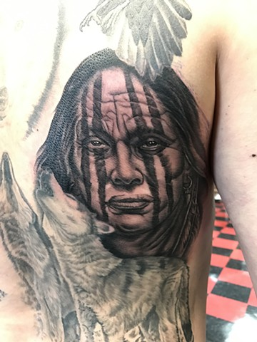 Ron Meyers - Indian Portrait Tattoo