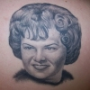 Ron Meyers - Memorial tattoo of Sweet Chucks Aunt Linda, Done on his cousin Tommy