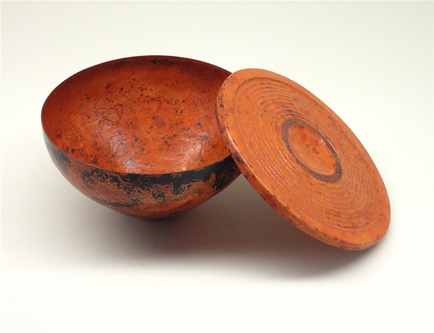 Lidded Vessel with Patina