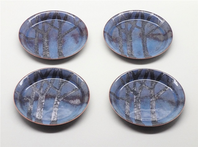 Winter Trees Set of 4