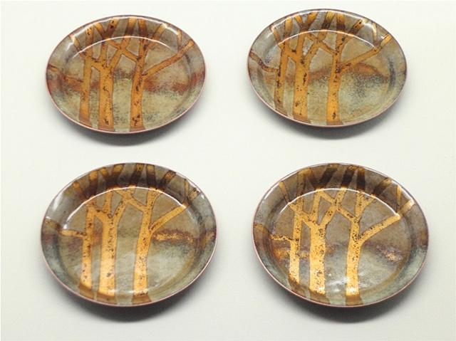 Golden Trees Set of 4