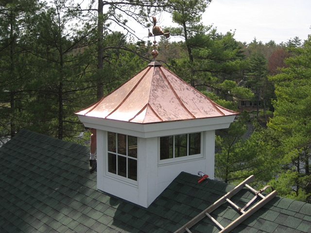 Mccrillis hill copper works copper cupola roof for Cupola with windows