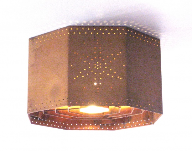 Ceiling Light with Perforated Pattern