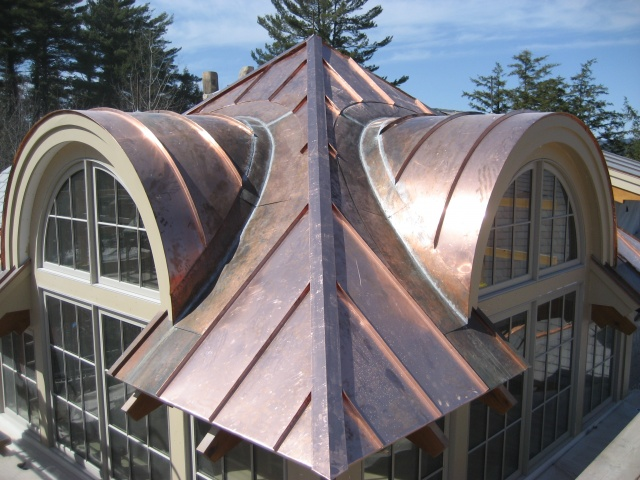 Barrel Roof Panels Installed Tower Roof Completed