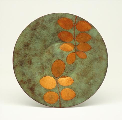 "Enameled Plate 8"" Round"