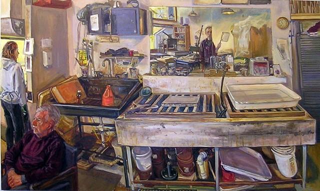 Litho-sink, Printshop