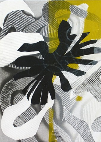 black white gray graphic abstract collage