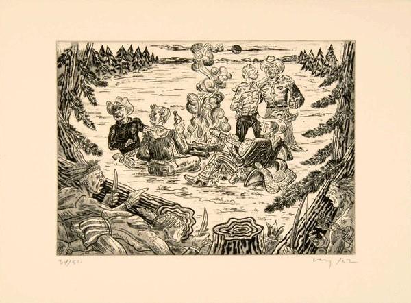 "Artist: Harold Ivey Title: ""Bushwhacked"" 2002"