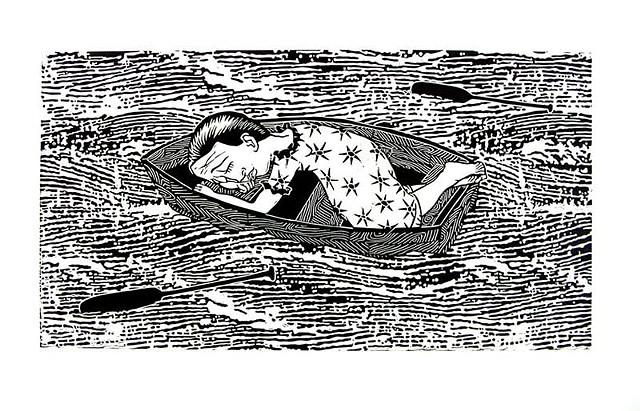 Asleep adrift  1998
