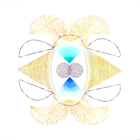 soul pattern portrait spirit art yoga channeling symmetry mandala