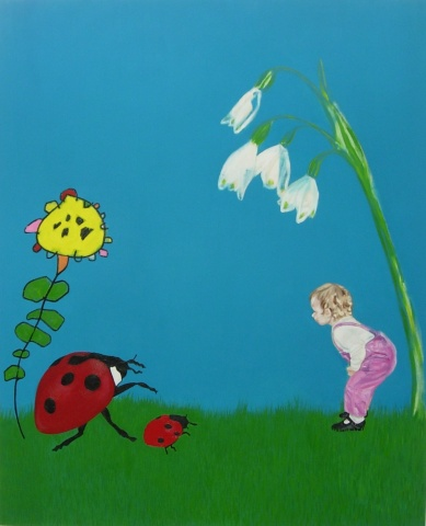 The Ladybird And The Centipede Flower