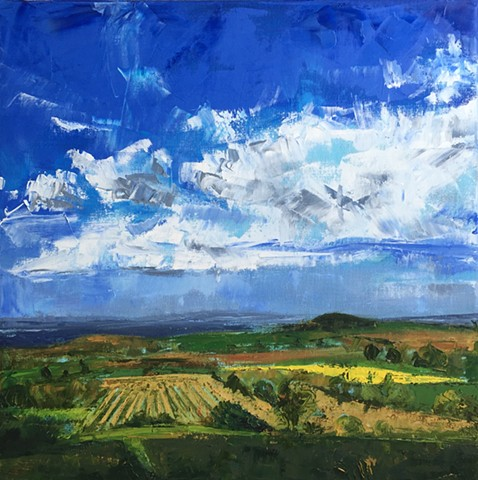 Herefordshire Fields landscape oil painting