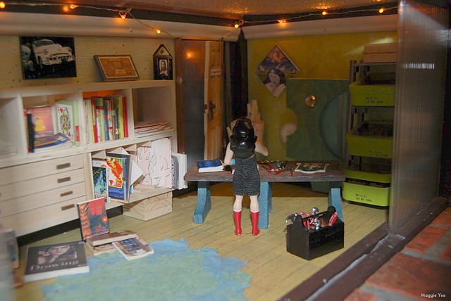 Altered doll house, wonder woman