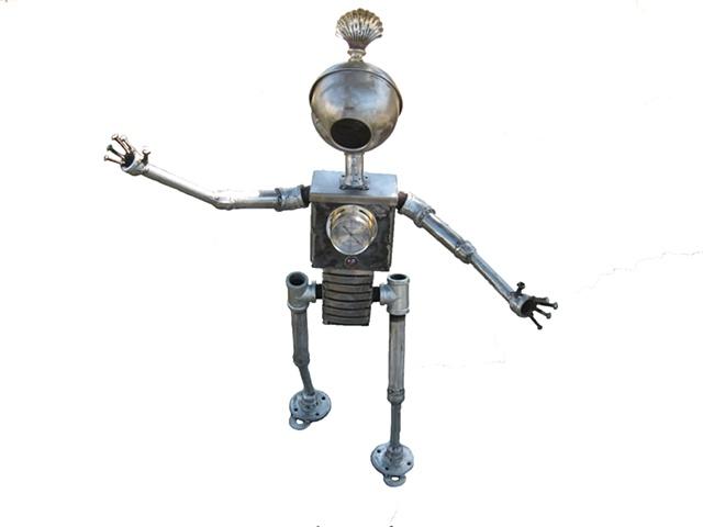 baby robot sculpture