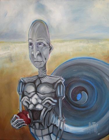 robot portrait oil painting alex rios